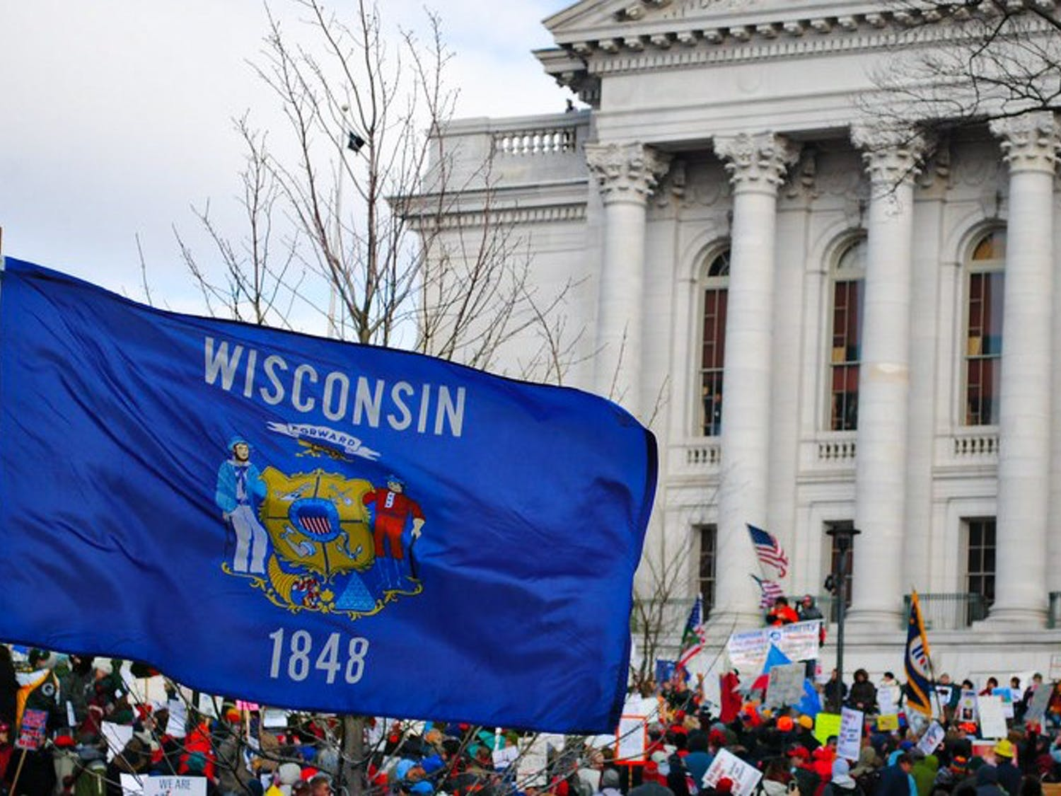 """The protests at the Wisconsin State Capitol Friday moves against Gov. Tony Evers' new mandate to extend Wisconsin's """"Safer at Home"""" order, and will violate pre-existing social distancing measures."""