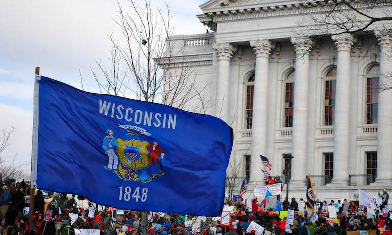 "The protests at the Wisconsin State Capitol Friday moves against Gov. Tony Evers' new mandate to extend Wisconsin's ""Safer at Home"" order, and will violate pre-existing social distancing measures."