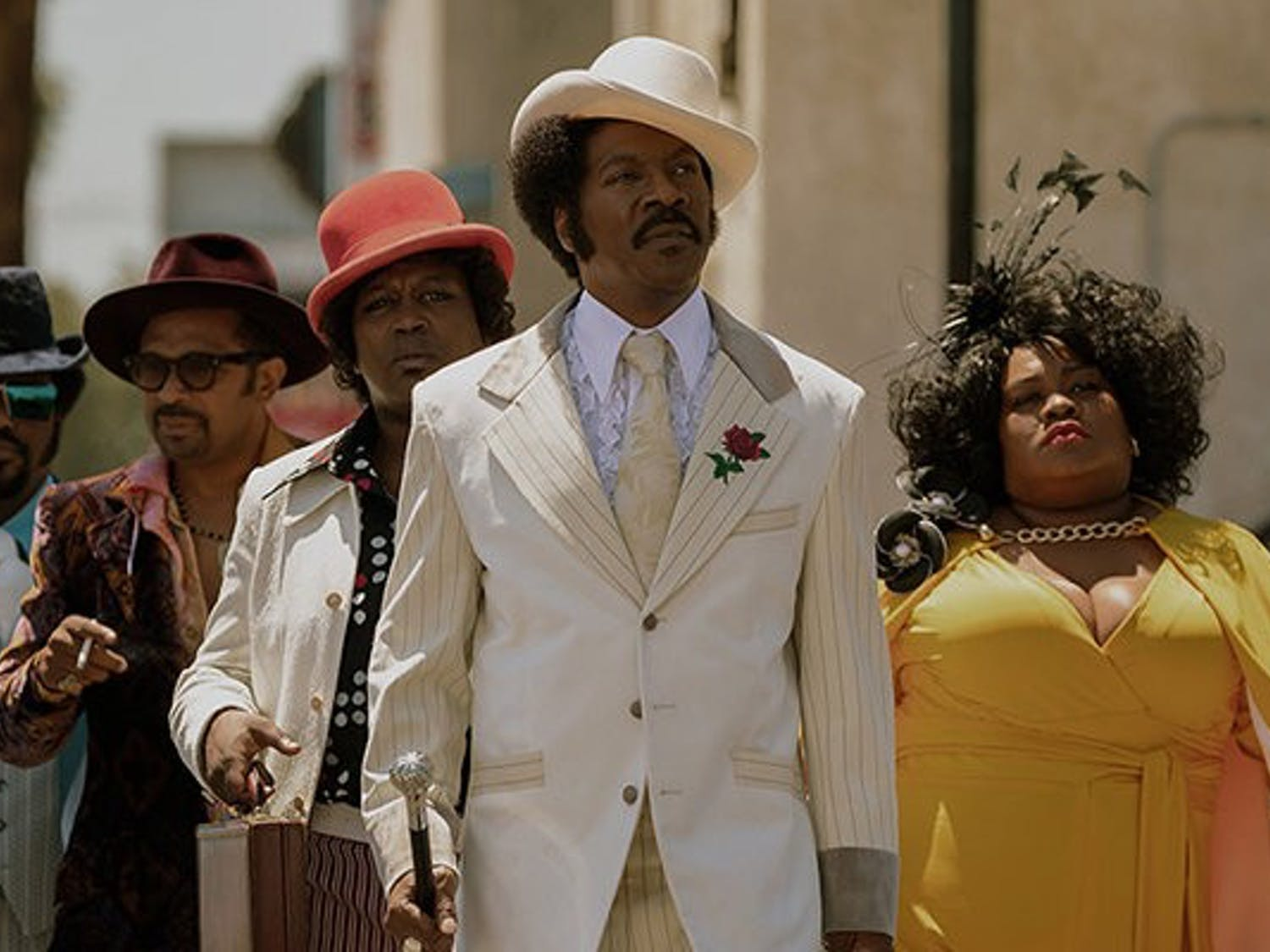 Eddie Murphy stars as entertainment icon Rudy Ray Moore in lazy Netflix film.