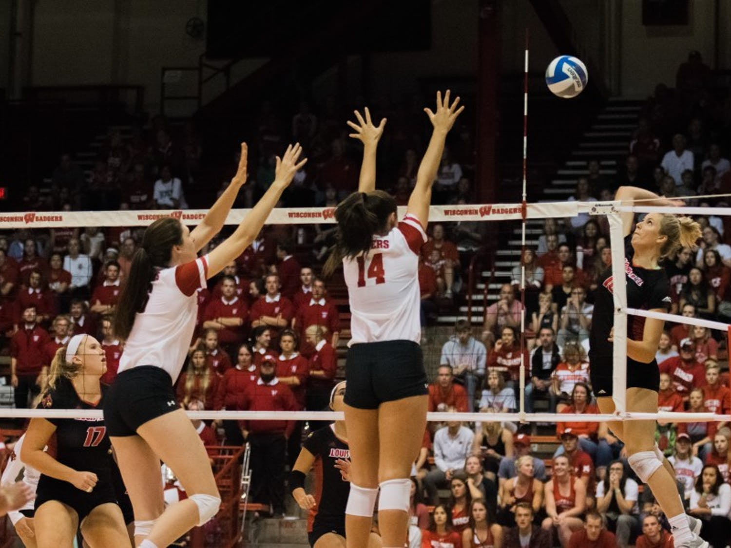 Wisconsin came dangerously close to losing its first set of the season Thursday night, but it held off a late Lipscomb push and swept the Bison in three sets.