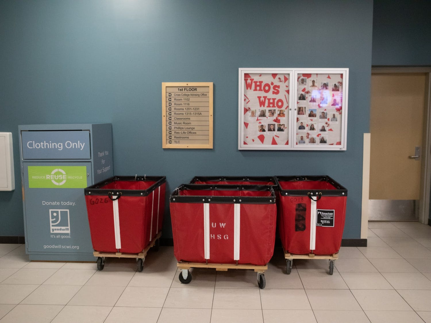 Following Gov. Tony Evers Stay At Home order, the university cancelled all moveout appointments and decided to store the leftover student items.