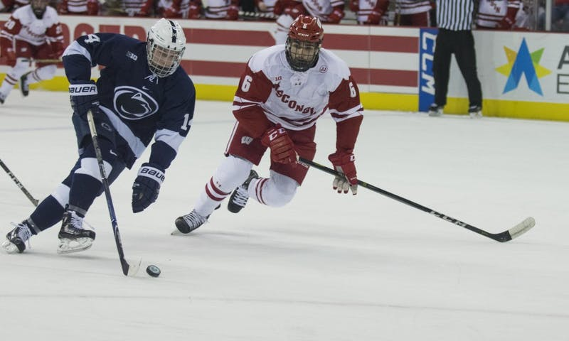 Senior captain Peter Tischke scored the game-winning goal with 12 minutes left in the game to help Wisconsin collect a win against Michigan State Friday night.