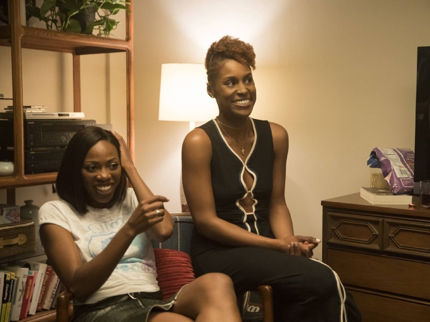 """Yvonne Orji (left) and Issa Rae star in HBO's """"Insecure,"""" with its sophomore season airing this summer."""
