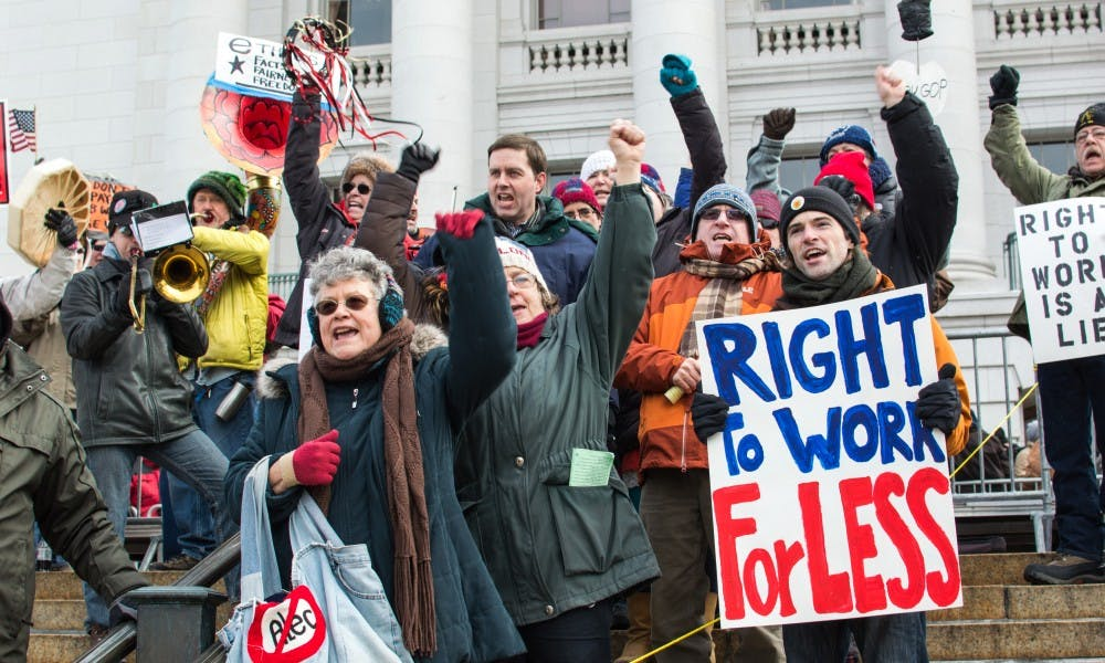 A federal judge upheld Wisconsin's right-to-work law Monday, which has previously been heavily protested at the state Capitol.