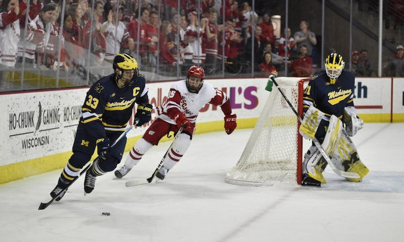 The Badgers came out on top of a 4-3 overtime thriller on senior night against Michigan