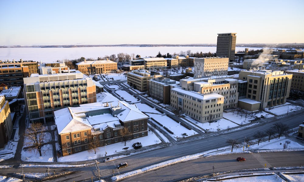 Aerial view of the UW-Madison campus