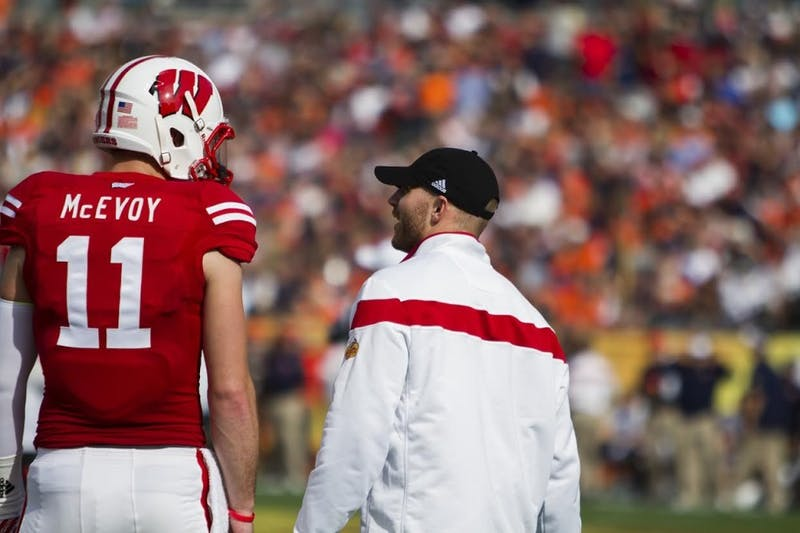 Tanner McEvoy, who started this season as Wisconsin's starting quarterback, did not register a pass or a rush in the Badgers' game against Auburn.