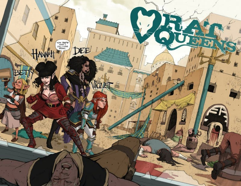 """Rat Queens"" revolves around a group of foul-mouthed female mercenaries."