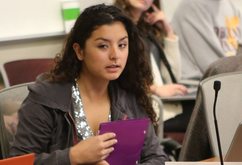 SSFC Rep. Jessica Franco-Morales said funding activities done for academic credit goes against UW System policy.