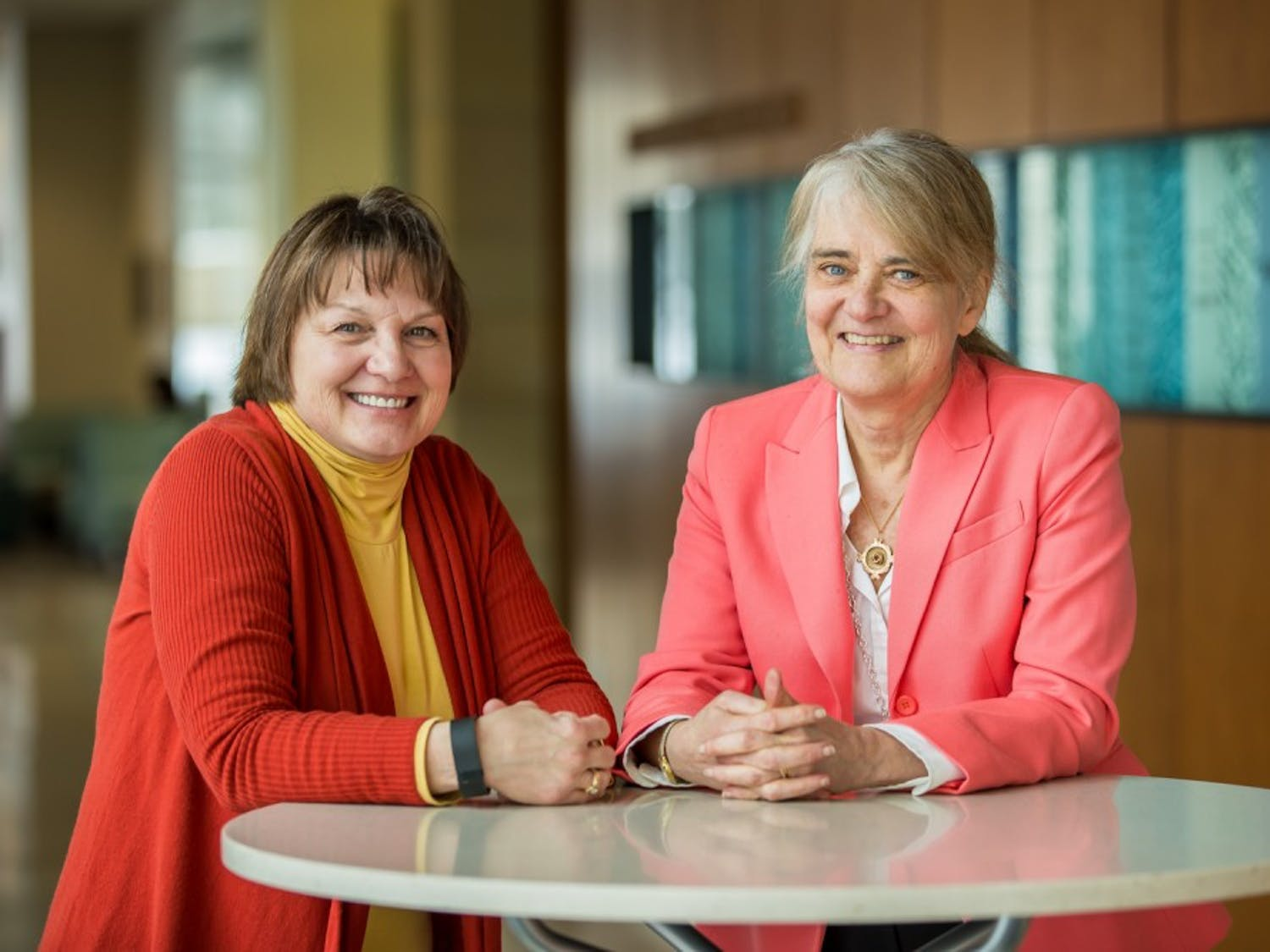 Barbara Bowers (right) and Barbara King, faculty members of the UW-Madison School of Nursing, recently received national awards for their research advancing health care for the elderly.