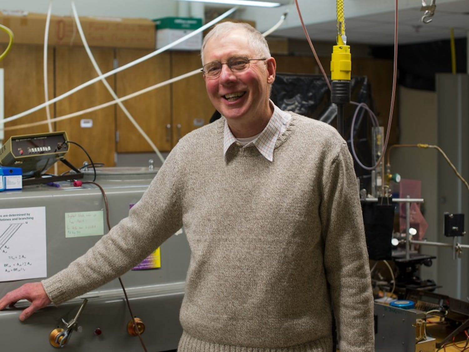 In an interview with the Daily Cardinal, Professor James Lawler explained the uses of equipment housed in his lab.