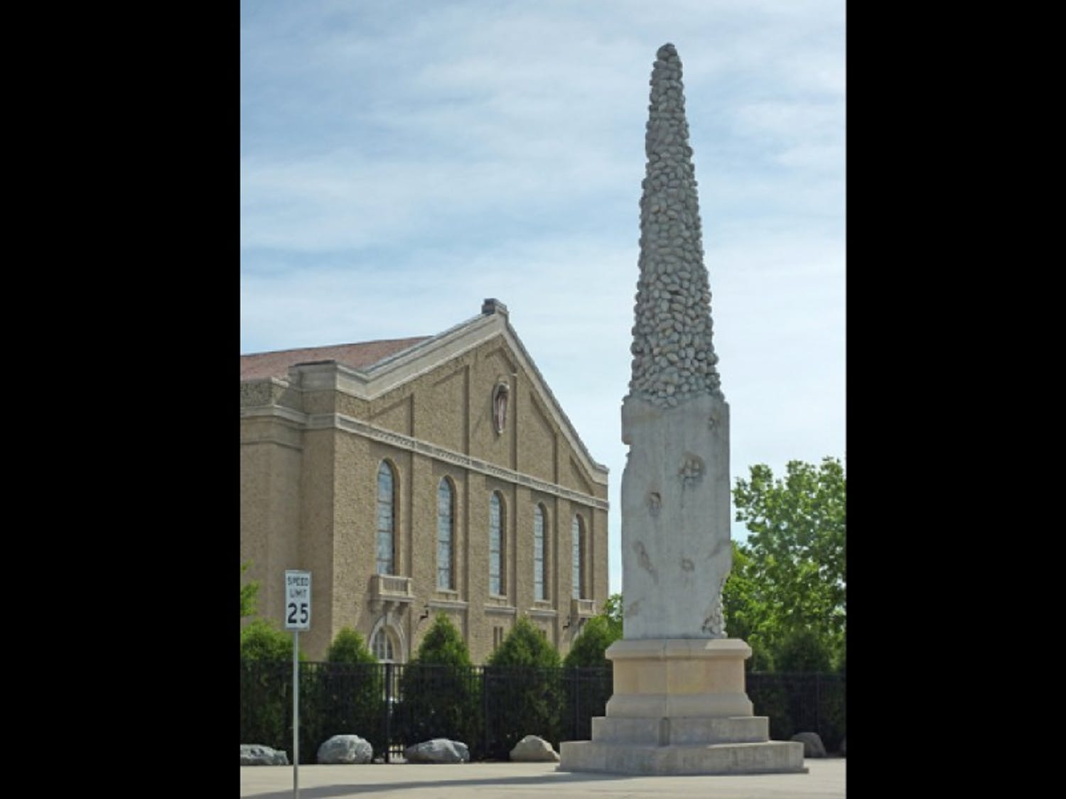 The Nails' Tales sculpture has stood outside Camp Randall since 2005, but now the campus landmark faces an unknown future.