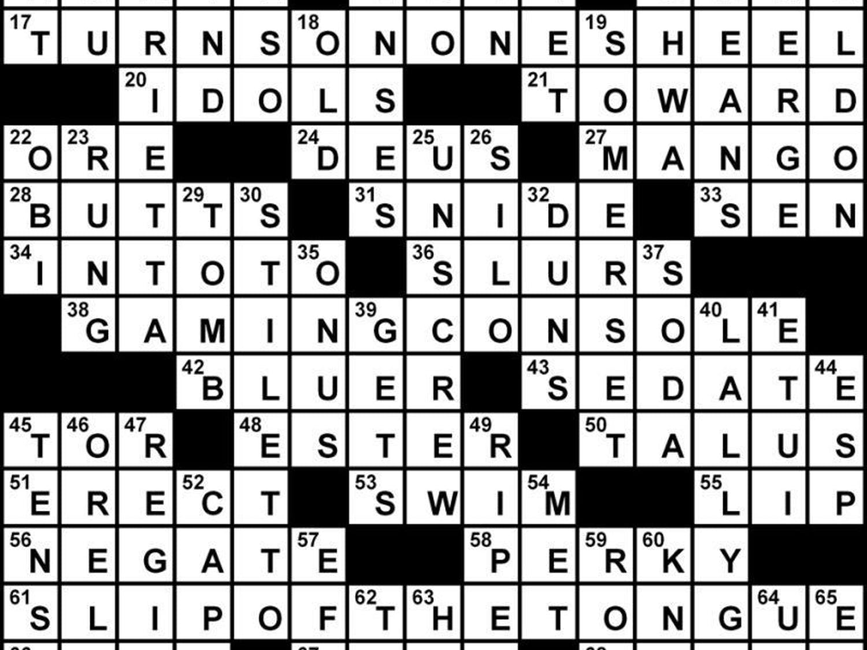 Crossword Solution - 02/15/2013