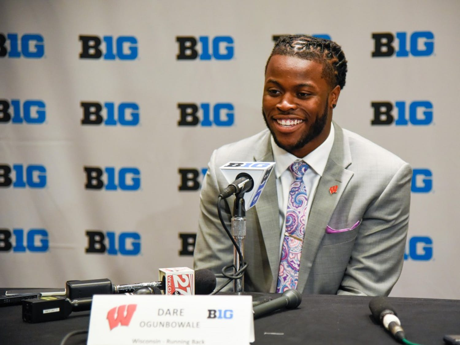 Photographer Jessi Schoville captured some of the Big Ten's finest addressing the press at Big Ten Media Days in Chicago. Football season is just over a month away and between Michigan, Michigan State, Ohio State, Iowa and Wisconsin, this campaign could be one of the Big Ten's best.