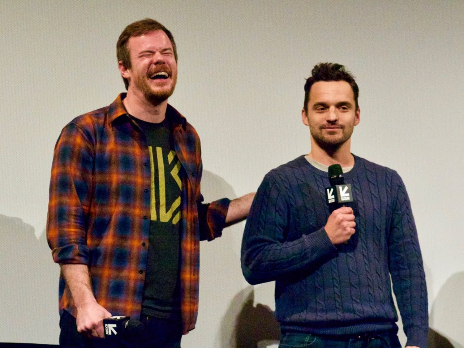 """From left: Joe Swanberg and Jake Johnson introduce their newest film collaboration, """"Win It All."""""""