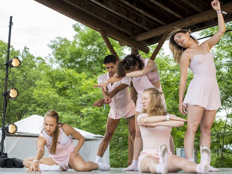 Eaux Claires 2017:Back-up dancers helped to enhance Spank Rock's set.