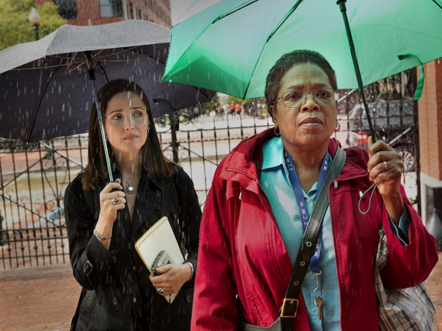 """Rose Byrne (left) and Oprah Winfrey (right) star in """"The Immortal Life of Henrietta Lacks,"""" premiering tonight at 8 p.m. on HBO."""