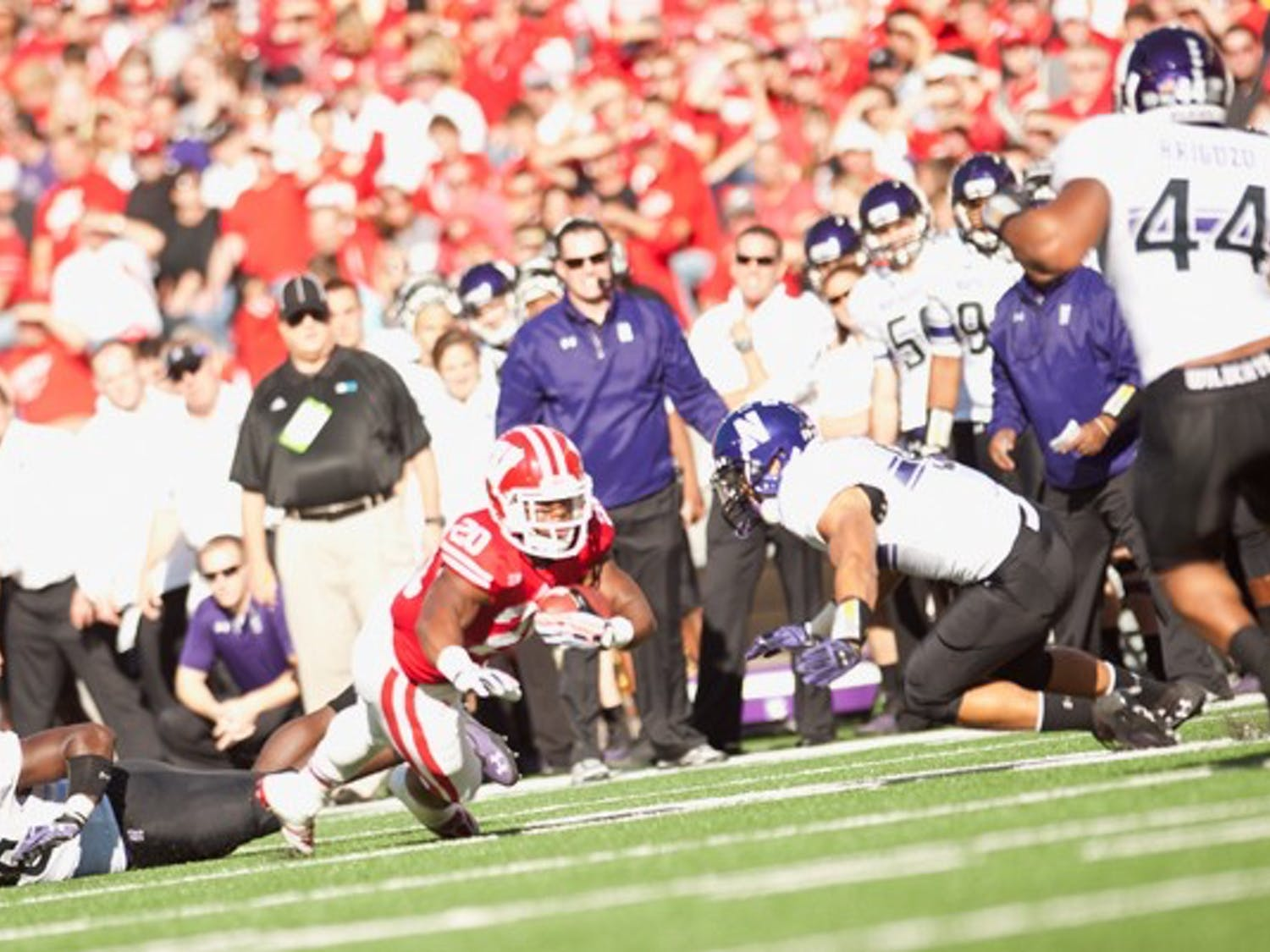 Badgers defeat the Wildcats 35 to 6 in Badger Homecoming game Saturday October 12.