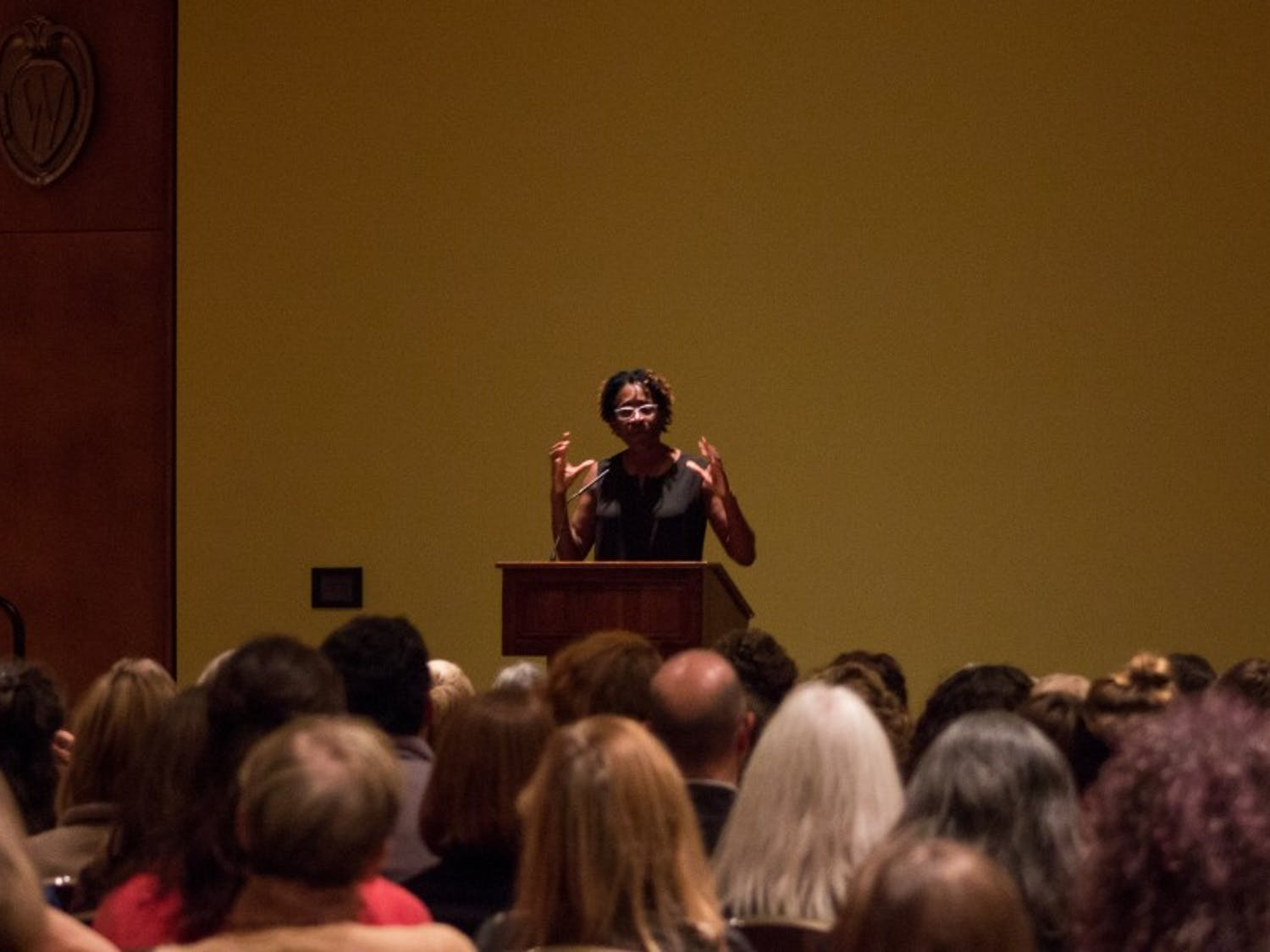 Author Jacqueline Woodson discssued how she thought about her own identity, especially as a female of color, while writer her award-winning books.