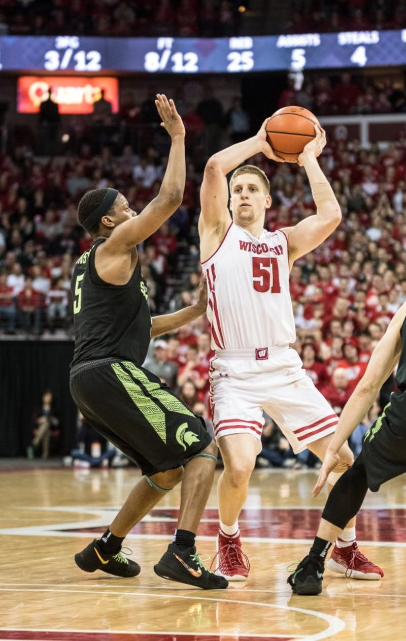 Junior guard Brevin Pritzl pitched in with 8 points off the bench to help Wisconsin beat Nebraska Tuesday night.