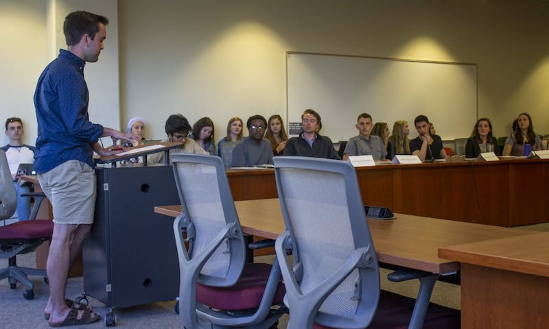 For the Associated Students of Madison's 26th session, Chair Laura Downer and Vice Chair Morgan Grunow accepted their new leadership positions, two of several leadership roles to be elected Wednesday.