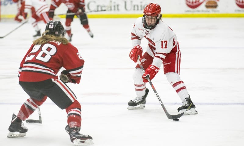 Freshman forward Britta Curl scored twice in Wisconsin's 5-0 win over St. Cloud to kick off the WCHA playoffs Friday afternoon.