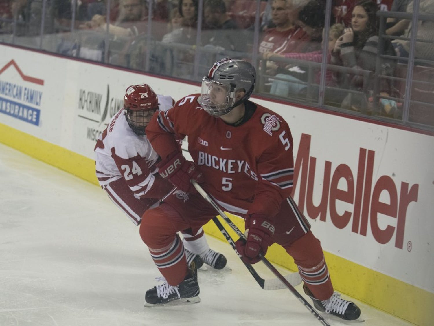 Sophomore forward Sean Dhooghe has scored five goals this year to lead a scoring explosion by Wisconsin's underclassmen.