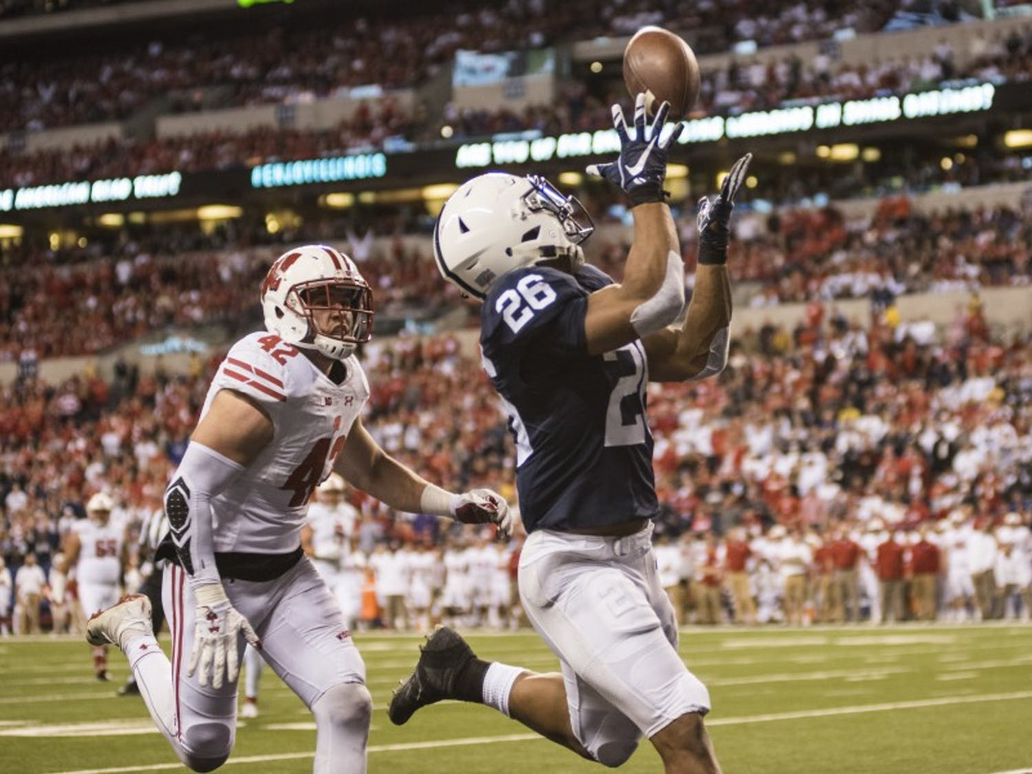 Saquon Barkley (26)has been one of the best players in the country this season.