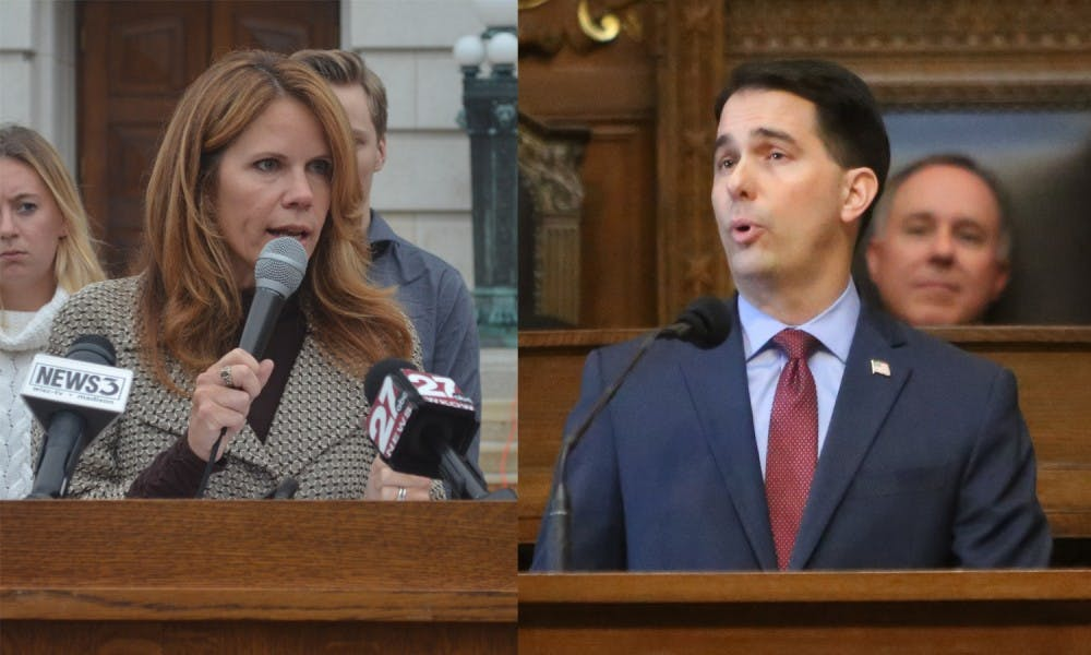 Madison Democratic Reps. Chris Taylor and Terese Berceau requested an investigation into Gov. Scott Walker's flights around Wisconsin after a group accused the governor of using state funds for these trips.