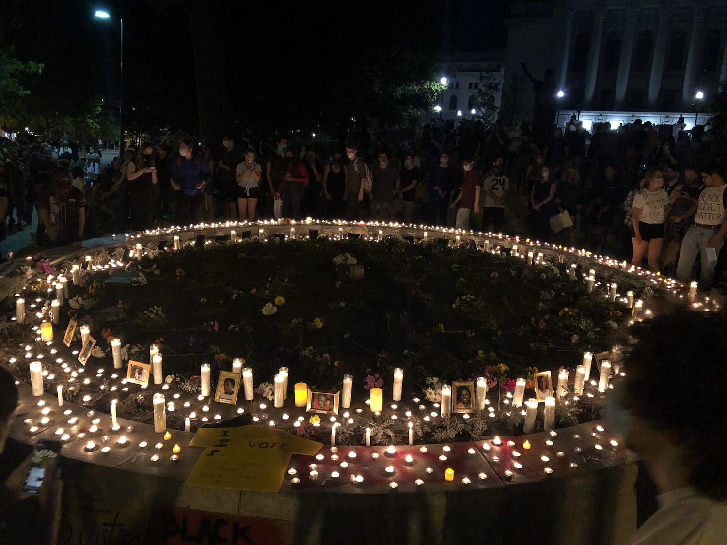 A memorial for all Black lives lost at the Capitol Wednesday night.