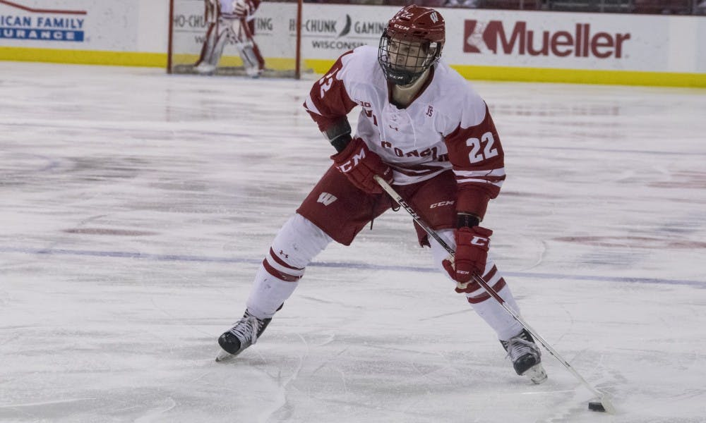 Max Zimmer tied the game and forced overtime off a rocket of a shot late in the third period.
