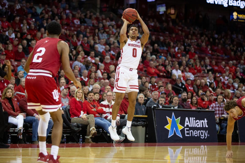 <p>D'Mitrik Trice scored 11 Wednesday, providing a spark in the second half for the Badgers.</p>