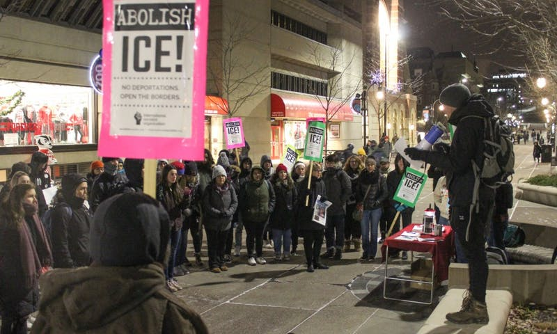 Various Madison organizations gathered with the public for an emergency rally thatwas held in support of the migrant caravan along the El Chaparral border Tuesday.