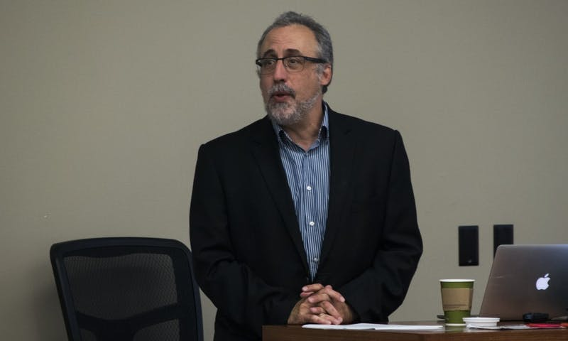 Professor Howard Schweber led a discussion on free speech issues Monday.