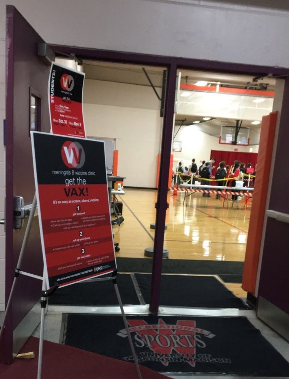 From Oct. 20 until Nov. 2, UW-Madison's University Health Services vaccinated roughly 20,400 students for meningitis B at the Southeast Recreational Facility with the help of student volunteers.