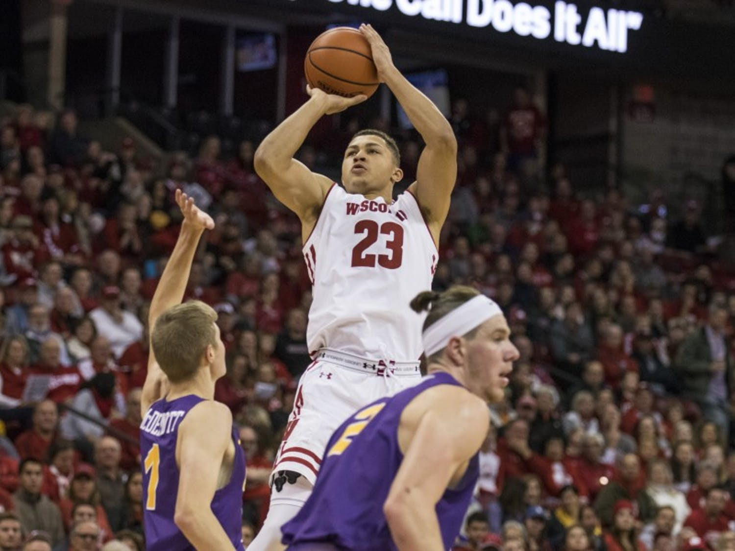 Freshman Kobe King has averaged 29 minutes of action in Wisconsin's last two games, and his presence has provided more space for Ethan Happ and the rest of the offense.