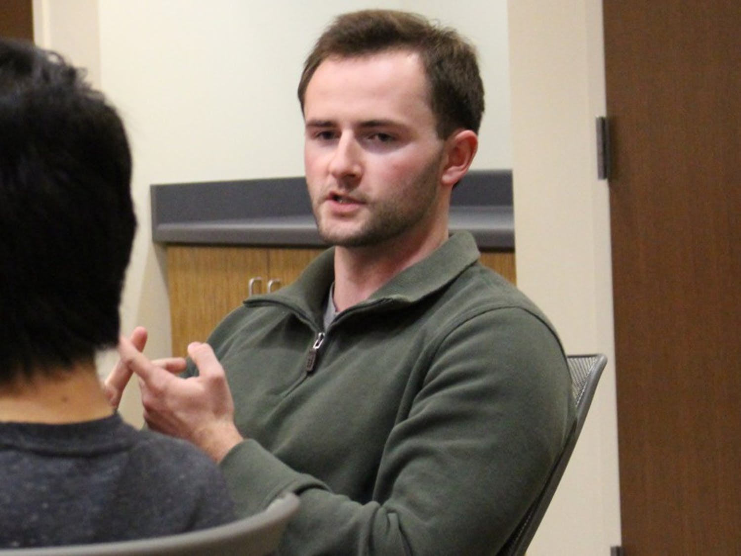 Alumnus Zach Wood, who graduated last year from UW-Madison, serves as alder for District 8.
