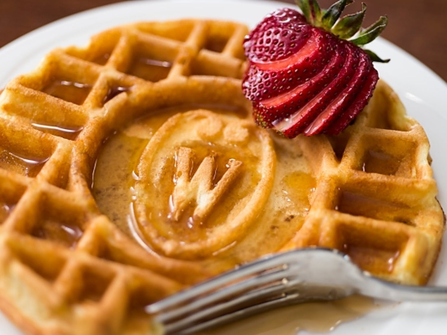 Wisconsin waffles are a popular dining hall option with UW-Madison students.