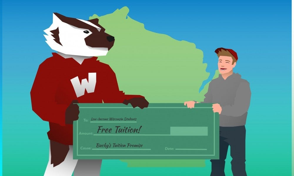 Bucky's Tuition Promise underwrote college expenses for more than 18 percent of UW-Madison freshmen and transfer students this fall.