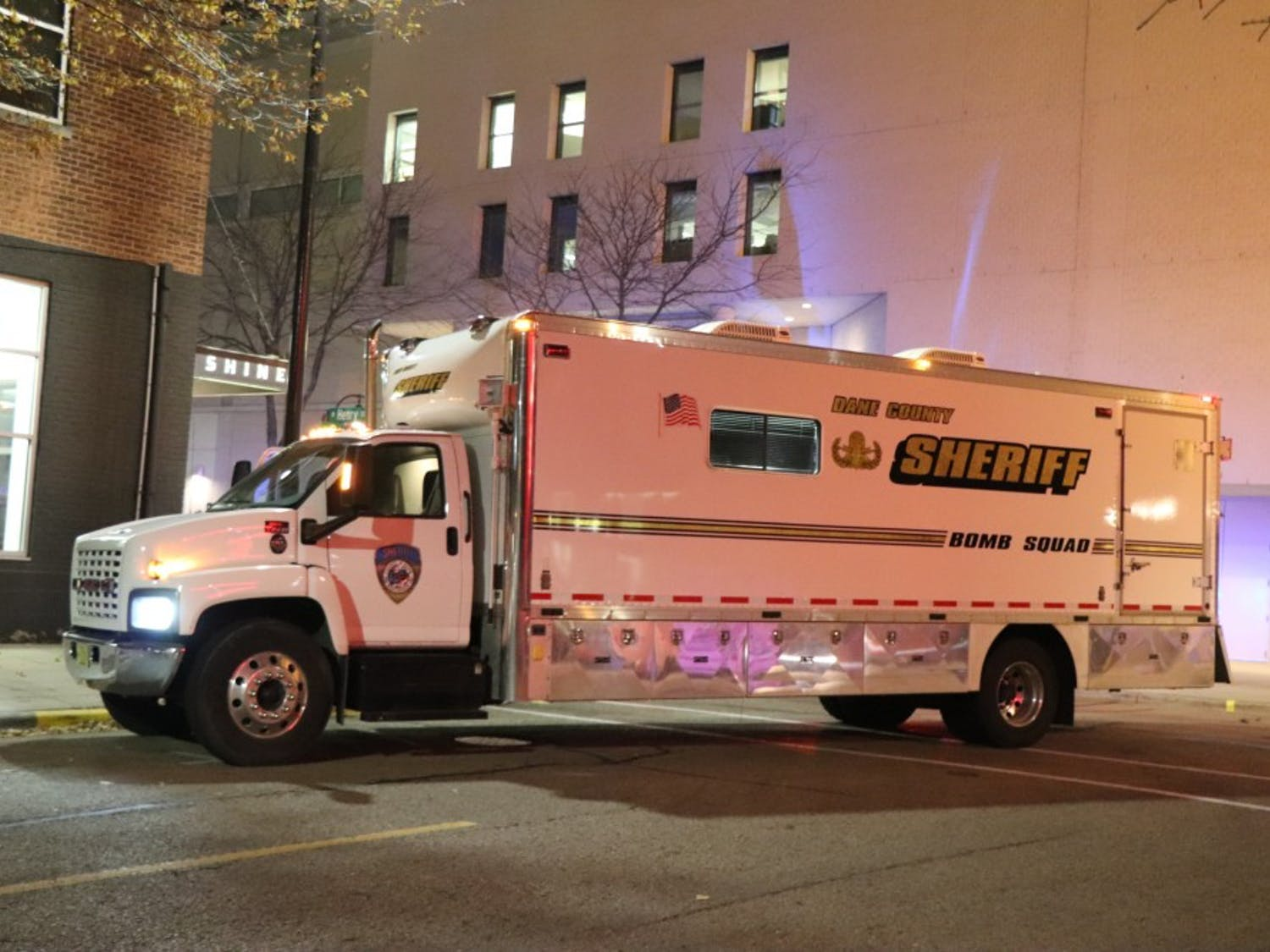 Dane County bomb squad determined that the contents of the package were benign.