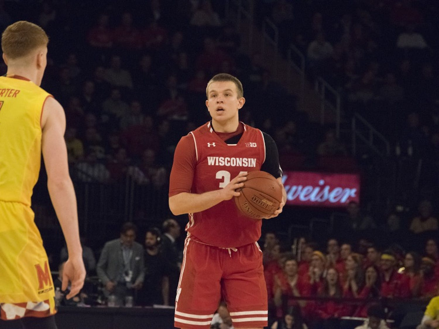 Sophomore guard Brad Davison and the Badgers hope to get back to the NCAA Tournament this season.