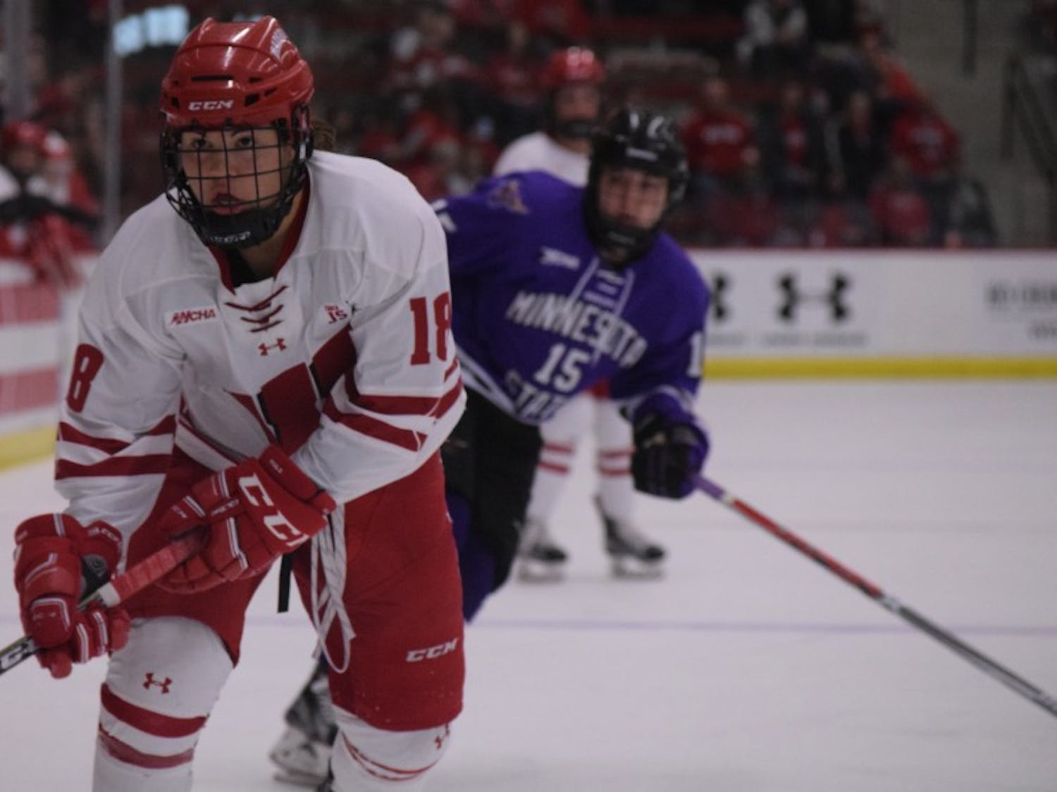 Abby Roque and the Badgers face Minnesota in the first round of the NCAA Tournament. UW lost to the Gophers 3-1 last week in the WCHA Tournament championship.