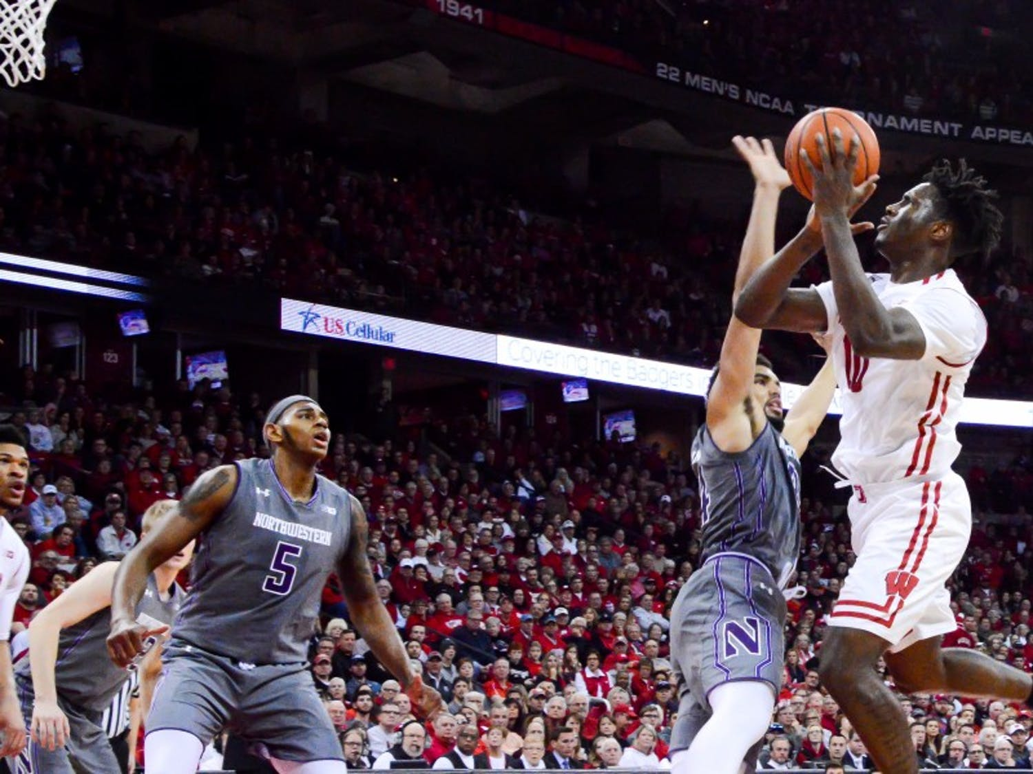 Nigel Hayes' 13 points weren't enough as the Badgers fell to the Wildcats at the Kohl Center.