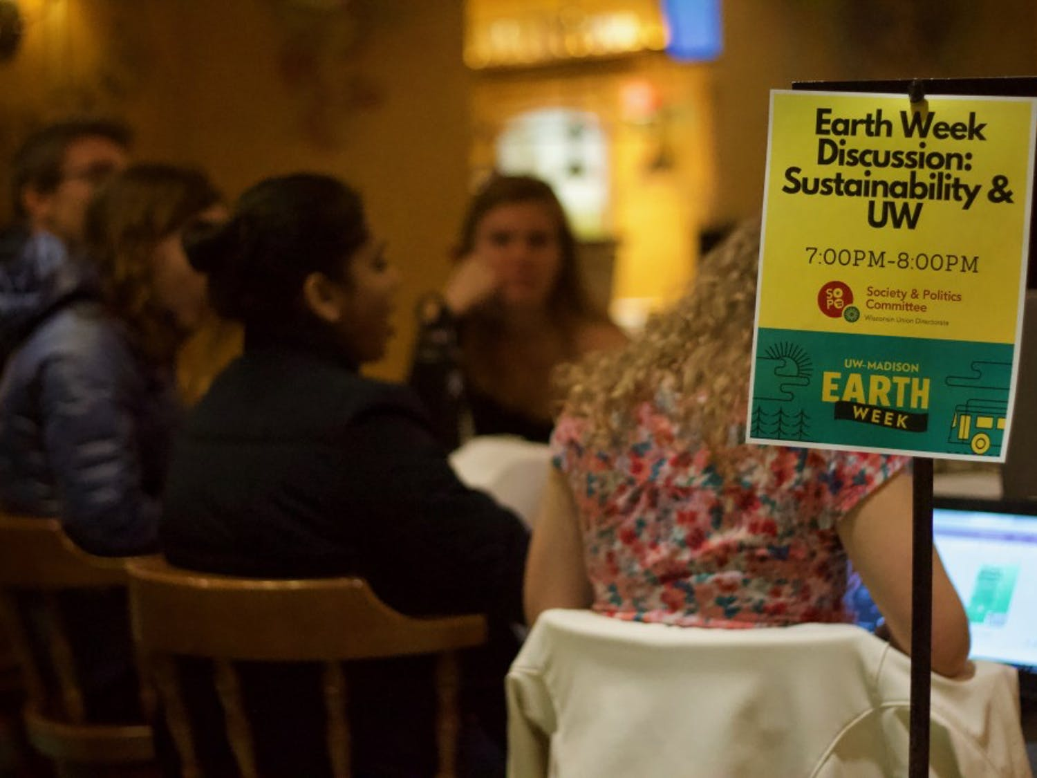 Students and community members discuss sustainable energy use on UW-Madison's campus in light of Earth Week.