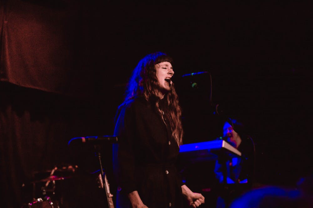 Lead singer Katie Crutchfield of indie rock group Waxahatchee delivered powerful vocalsat High Noon Saloon on Thursday.