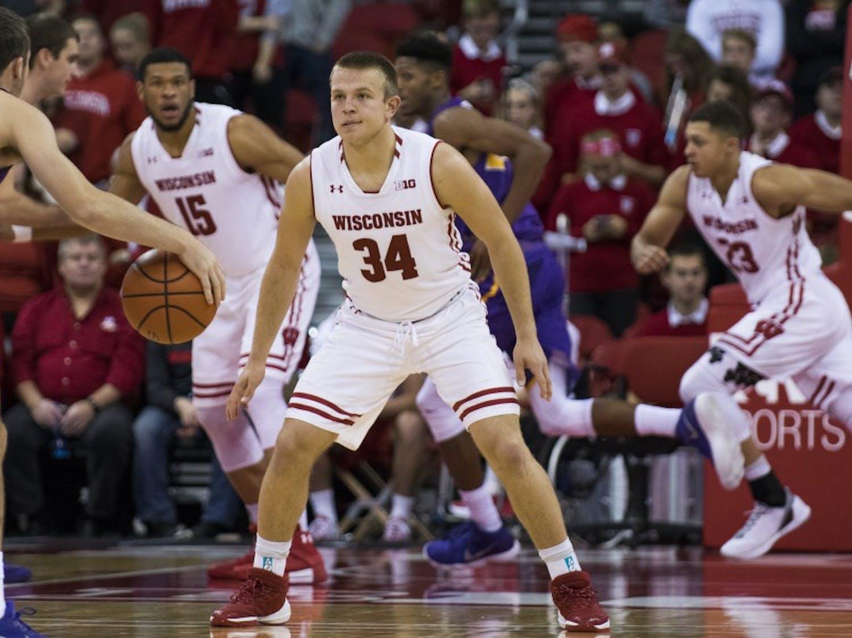 Sophomore guard Brad Davison scored 24 points in Wisconsin's losing effort to Western Kentucky.