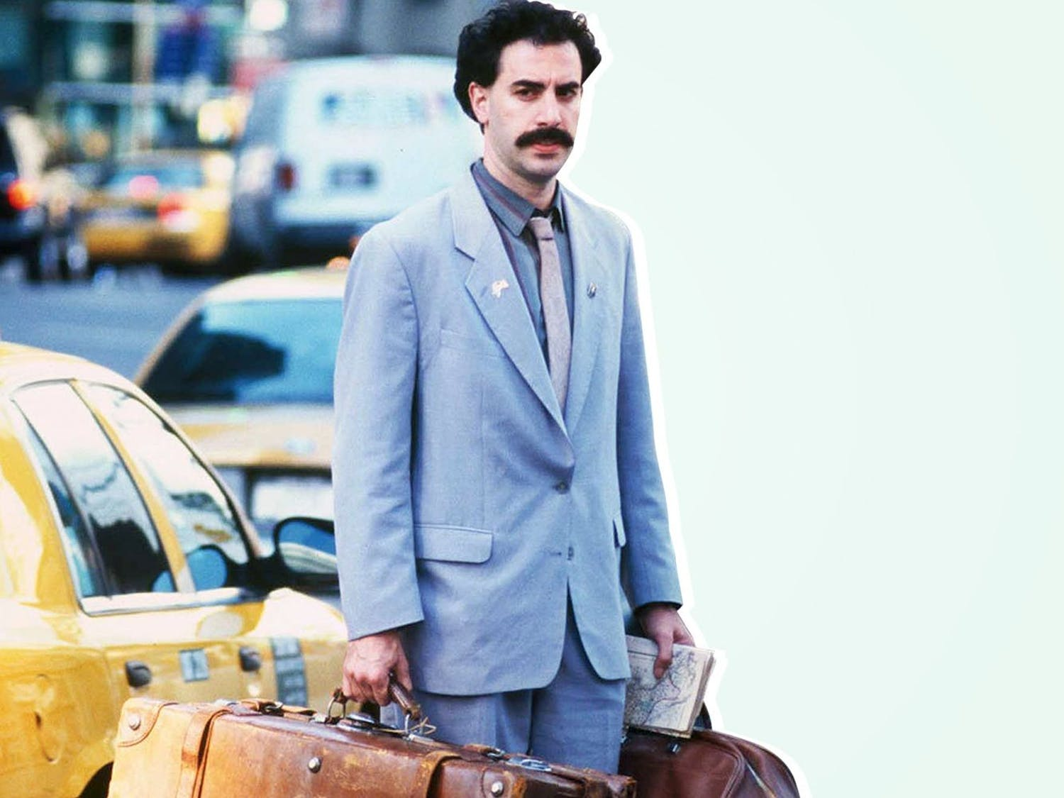 "Sacha Baron Cohen returns to the big screen with ""Borat: Subsequent Movie Film."""
