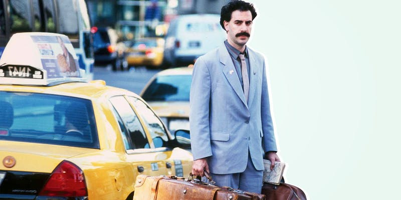 """Sacha Baron Cohen returns to the big screen with """"Borat: Subsequent Movie Film."""""""