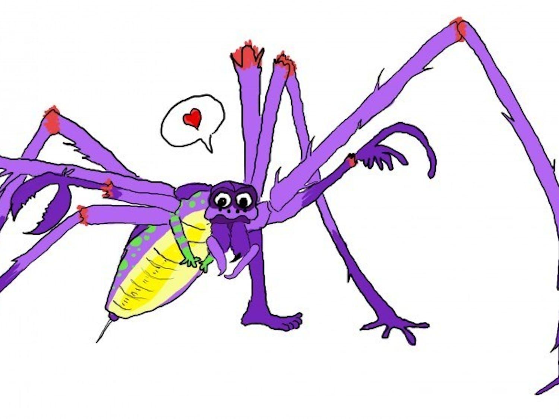 Pretty scary spider