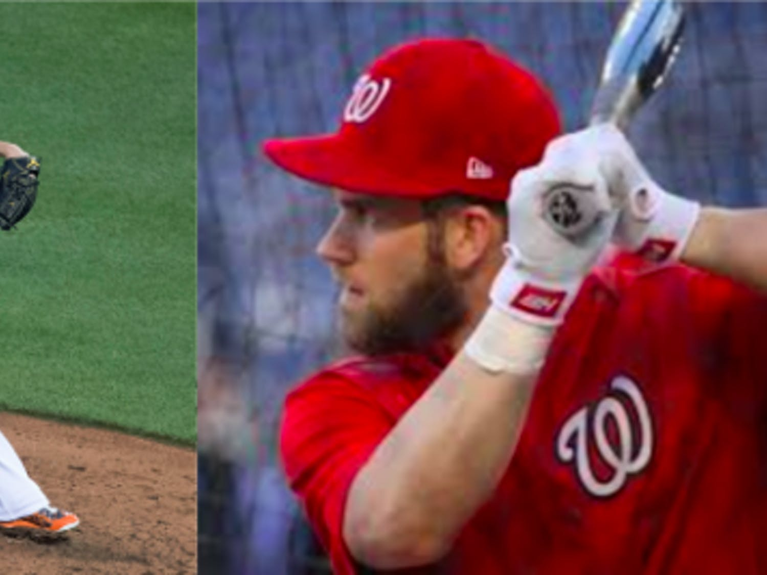 Even after a hot start to the season,Baltimore's Dylan Bundy (left) is a good sell-high candidate, while Bryce Harper's (right) body of work means he should continue to lead your fantasy team going forward.